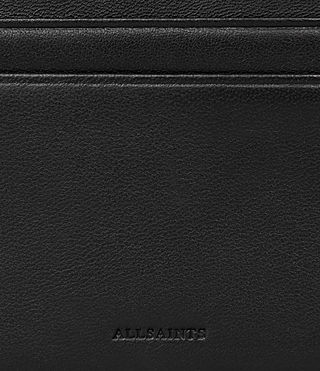 Womens Fin Leather Cardholder (Black) - product_image_alt_text_2