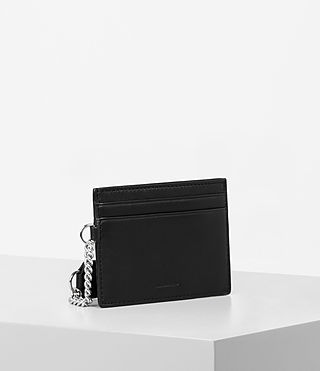 Womens Fin Leather Cardholder (Black) - product_image_alt_text_3