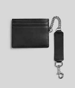 Womens Fin Leather Cardholder (Black) - product_image_alt_text_4