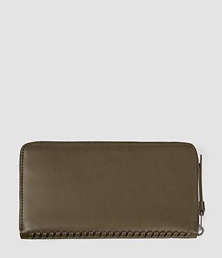 Women's Club Zip Around Wallet (Dark Khaki Green) - product_image_alt_text_2