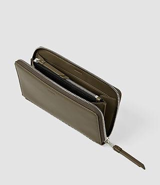 Women's Club Zip Around Wallet (Dark Khaki Green) - product_image_alt_text_3