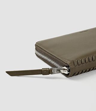 Women's Club Zip Around Wallet (Dark Khaki Green) - product_image_alt_text_4