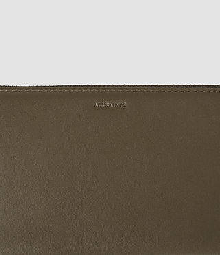 Damen Club Zip Around Wallet (Dark Khaki Green) - product_image_alt_text_5