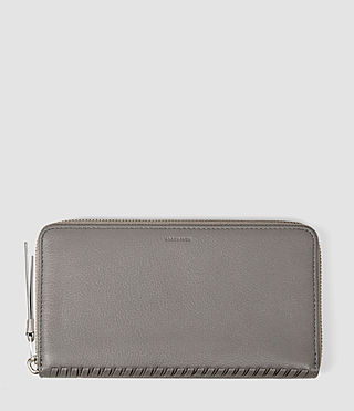 Donne Club Zip Around Wallet (Mid Grey)