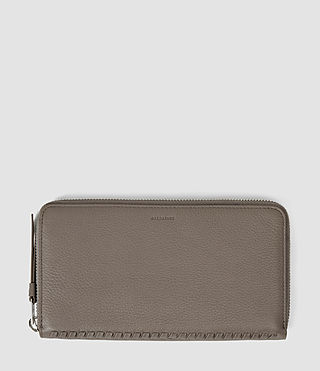 Mujer Club Zip Around Wallet (Taupe) -