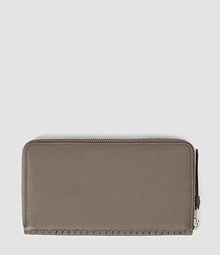 Mujer Club Zip Around Wallet (Taupe) - product_image_alt_text_2