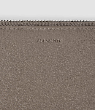 Women's Club Zip Around Wallet (Taupe) - product_image_alt_text_3