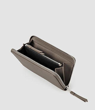 Women's Club Zip Around Wallet (Taupe) - product_image_alt_text_4