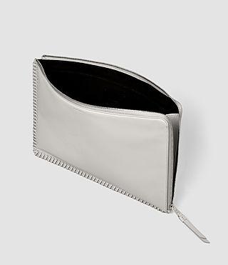 Womens Fleur De Lis Large Pouch (Light Grey) - product_image_alt_text_3