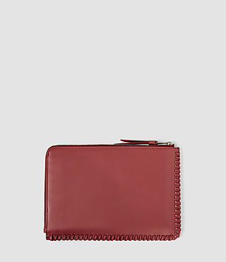 Damen Fleur De Lis Medium Pouch (SAHARA RED) - product_image_alt_text_2