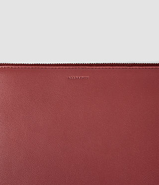 Damen Fleur De Lis Medium Leather Pouch (SAHARA RED) - product_image_alt_text_3