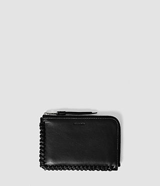 Damen Fleur De Lis Small Leather Pouch (Black)