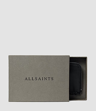 Damen Fleur De Lis Small Leather Pouch (Black) - product_image_alt_text_5