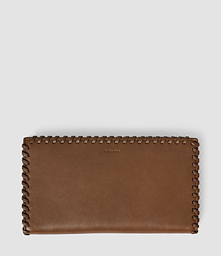 Women's Fleur De Lis Continental Wallet (Tan)