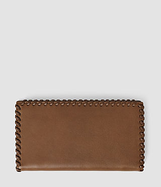 Femmes Fleur De Lis Continental Wallet (Tan) - product_image_alt_text_2