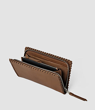 Femmes Fleur De Lis Continental Wallet (Tan) - product_image_alt_text_3