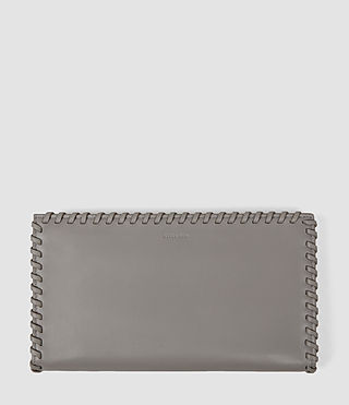 Womens Fleur De Lis Continental Wallet (Mid Grey)