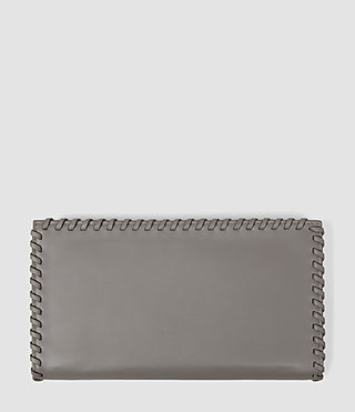 Mujer Fleur De Lis Continental Wallet (Mid Grey) - product_image_alt_text_2
