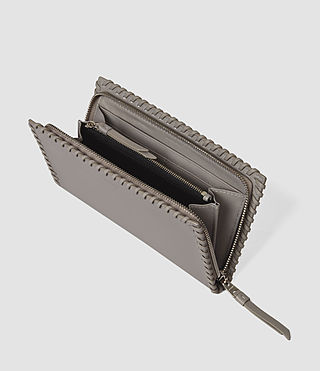 Damen Fleur De Lis Continental Wallet (Mid Grey) - product_image_alt_text_3