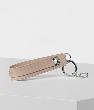Womens Ikuya Leather Keyfob (Stone) - product_image_alt_text_3