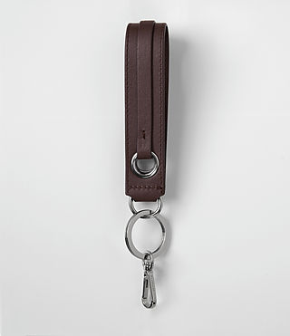 Womens Ikuya Leather Keyfob (PRUNE) - product_image_alt_text_1