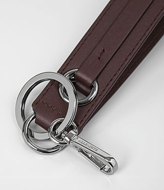 Womens Ikuya Leather Keyfob (PRUNE) - product_image_alt_text_2