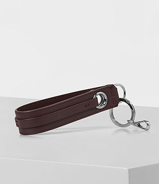 Womens Ikuya Leather Keyfob (PRUNE) - product_image_alt_text_3
