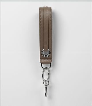 Womens Ikuya Leather Keyfob (MINK GREY) - product_image_alt_text_1