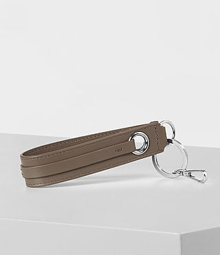 Womens Ikuya Leather Keyfob (MINK GREY) - product_image_alt_text_3