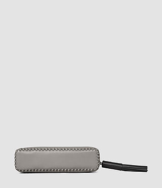 Women's Pearl Leather Pencil Case (MID GREY/BLACK) - product_image_alt_text_3