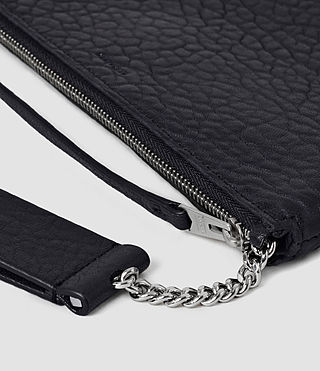 Donne Paradise Leather Chain Purse (Navy/Black) - product_image_alt_text_4
