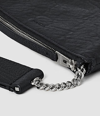 Mujer Paradise Small Leather Chain Purse (Navy/Black) - product_image_alt_text_4