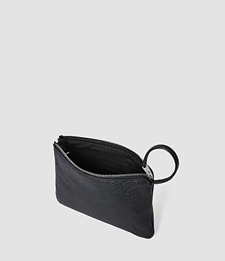 Mujer Paradise Small Leather Chain Purse (Navy/Black) - product_image_alt_text_5