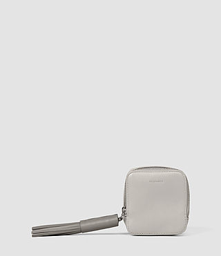 Femmes Pearl Coin Purse (LIGHT GRY/MID GREY) -