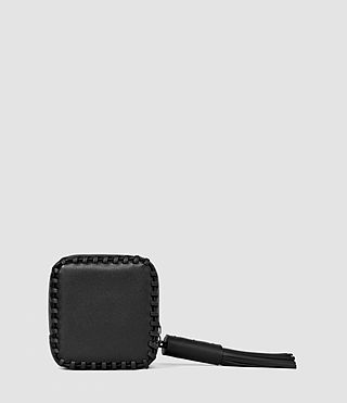 Mujer Pearl Leather Coin Purse (Black) - product_image_alt_text_2