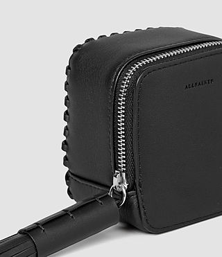 Mujer Pearl Leather Coin Purse (Black) - product_image_alt_text_4