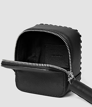 Mujer Pearl Leather Coin Purse (Black) - product_image_alt_text_5