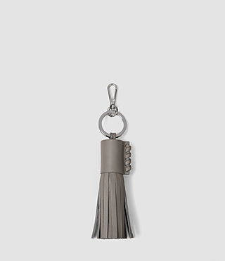 Donne Pearl Leather Keyfob (Mid Grey)