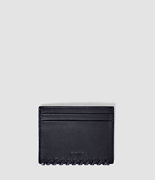 Damen Fleur De Lis Leather Cardholder (Midnight Blue)