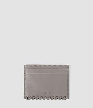 Womens Fleur De Lis Multicard Case (Mid Grey)