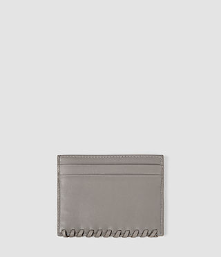 Donne Fleur De Lis Leather Cardholder (Mid Grey) - product_image_alt_text_2
