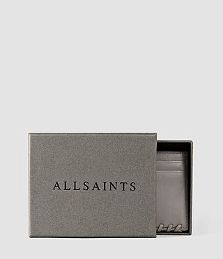 Damen Fleur De Lis Leather Cardholder (Mid Grey) - product_image_alt_text_4