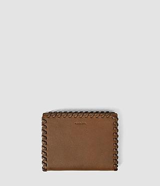 Mujer Fleur De Lis Small Wallet (Tan) -
