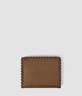 Mujer Fleur De Lis Small Wallet (Tan) - product_image_alt_text_2