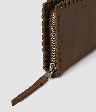 Mujer Fleur De Lis Small Wallet (Tan) - product_image_alt_text_4