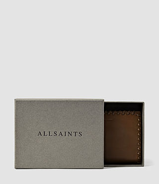 Women's Fleur De Lis Small Leather Wallet (Tan) - product_image_alt_text_5