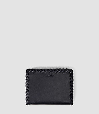 Damen Fleur De Lis Small Leather Wallet (Midnight Blue)