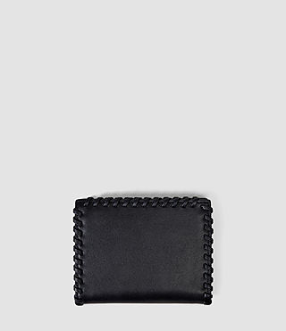 Femmes Fleur De Lis Small Leather Wallet (Midnight Blue) - product_image_alt_text_2