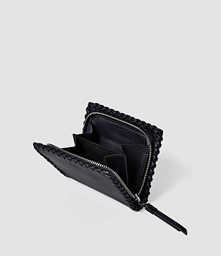Femmes Fleur De Lis Small Leather Wallet (Midnight Blue) - product_image_alt_text_3