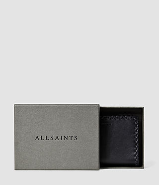 Femmes Fleur De Lis Small Leather Wallet (Midnight Blue) - product_image_alt_text_5